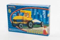Stavebnice Cheva 5 Traktor s vlekem