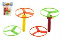 Vystřelovací vrtulka + startér plast 9cm - mix barev