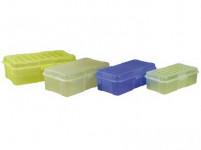 box s klick uzávěrem 20x10x 6cm (0,8l) plastový - mix barev - VÝPRODEJ