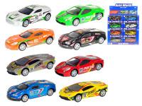 Auto závodní 10 cm kov 1:43 zpětný chod - mix variant či barev - VÝPRODEJ
