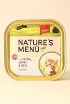 Schmusy Cat Nature Menu vanič Junior losos+jehně 100g