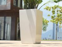 Samozavlažovací květináč GreenSun ICES 22x22 cm, výška 43 cm, bílá