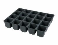 Sadbovač MULTI PL plastový černý 6,5x6,5cm 20ks - VÝPRODEJ