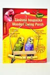 Houpačka malá pro ptáky dřevo - kov - VÝPRODEJ