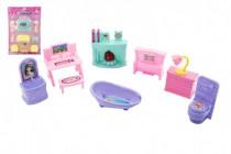 Nábytek pro panenky plast 2 druhy
