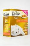 Gourmet Gold cat konz.-kousky se zel. Multipack 7 + 1 ks zd. x 85 g - VÝPRODEJ