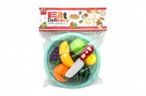 Ovoce a zelenina krájecí plast v košíku 18cm 2 druhy