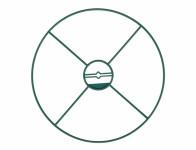 Kruh podpůrný pevný zelený d40cm 3ks