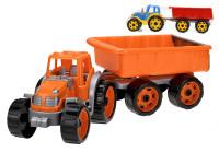 Traktor se sklápěcím přívěsem 54 cm - mix barev