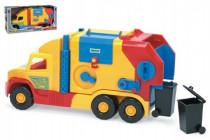 Auto Super Truck popeláři mix barev Wader 57cm - VÝPRODEJ