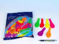 """Balonek nafukovací 7"""" párty neon 22x28cm karneval"""