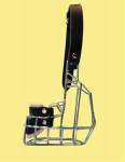 Náhubek kovový Americký Kokršpaněl - fena, chrom 70 x 35 x 75 mm