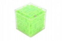 Bludiště kostka hlavolam plast 8x8cm - mix barev