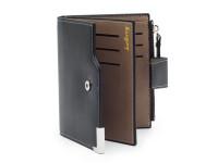 Moderní pánská peněženka s kapsou na drobné, eko kůže, černá