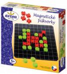 Magnetické piškvorky dřevo společenská hra