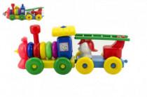 Vláček/Mašinka s vagónkem plast 45cm