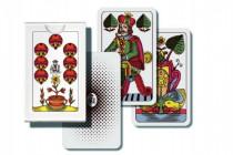 Mariáš jednohlavý společenská hra karty v papírové krabičce 7x10cm