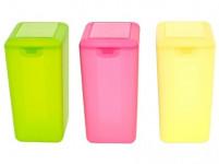 dóza s klick uzávěrem 1,6l obdélníková vysoká plastová - mix barev