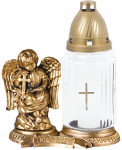 Svíčka sklo Anděl bílá - 80 g (171AA5034) - 3 ks