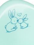 Hrající dětský nočník Bunny mátový - VÝPRODEJ