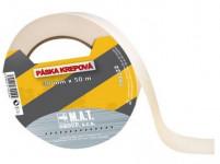 páska krepová 19mmx50m BÍ do 60 stupňů
