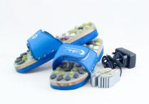 Vyhřívané masážní pantofle s přírodními kameny, modré, CatMotion Velikost XL (42, 43), 27 cm - VÝPRODEJ