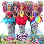 Víla Sparkle Girlz květinová s křídly v kornoutu