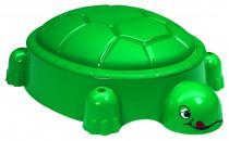 Pískoviště želva tmavě zelené s víkem - VÝPRODEJ