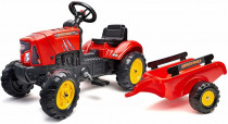 Traktor šlapací SuperCharger červený s valníkem