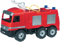 Mercedes auto hasiči plast 60cm stříkací vodu nádržka 1,6l