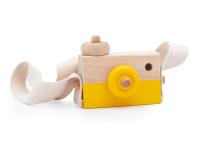 Foťák - dřevěná montessori hračka, žlutá