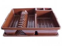 odkapávač na nádobí CLASSIC 44x35cm s podnosem plastový - mix barev
