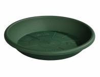 Podmiska pod květník MEDEA plastová tmavě zelená d16cm