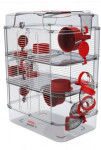 Klec křeček Rody 3 TRIO červená 41x27x53cm Zolux