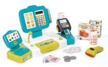 Pokladna elektronická s váhou modrá