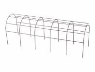 Mřížka opěrná pro truhlíky kovová hnědá 60cm