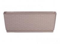 truhlík RATOLLA P 49,2x17,2x17,4cm BÉŽ tm. (7529U) s miskou