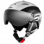 Spokey MONTANA lyžařská přilba s čelním sklem, černá, vel. L/XL