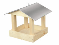 Krmítko dřevěné Č.3 pozinkovaná střecha 24x24x20cm