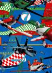 Balicí papír dětský 2mx70 cm, Letadla/Planes - modrý, DITIPO - VÝPRODEJ