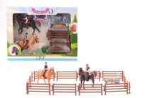 Koníci s jezdci a překážkami