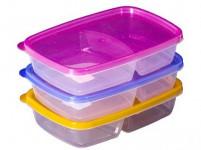 dóza 1l dělená plastová - mix barev