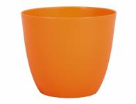Obal na květník PATRICIE plastový oranžový d21x19cm
