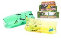 Vodní had dinosaurus 13 cm s dinosaurem v sáčku - mix barev
