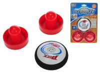 Air hokej puk 9 cm + 2 hokejky na baterie