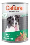 Calibra Dog  konz.Premium Adult hovězí+zelenina 800g - VÝPRODEJ