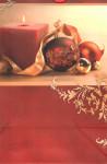 Dárková taška DAB, vánoční motiv, cihlová 32cm, DITIPO - VÝPRODEJ
