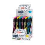 Fancy kuličkové pero modrá náplň 0,7 mm display 24ks, fluo mix