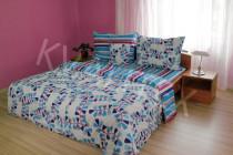 Povlečení bavlna Draci pruhy modré 140 x 200 cm, Kvalitex - VÝPRODEJ