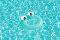 Dětský nafukovací kruh Bestway Big Eyes zelený - VÝPRODEJ